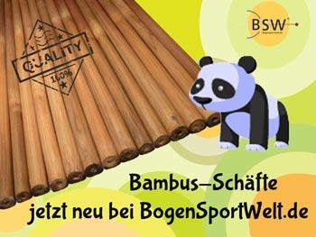 Bambus-Schäfte