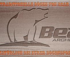 Traditionelle Bögen von Bear Archery