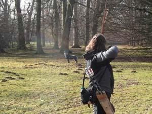 Schneeturnier in Kassel - Unsere Langbogenschützing Claudia Timm berichtet