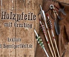 Holzpfeile mit Cresting