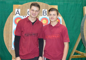 René und Adrian - gut gelaunt trotz trüber Stimmung auf dem Turnier