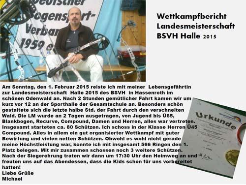 Unser Compoundschütze Michael Döppler berichtet