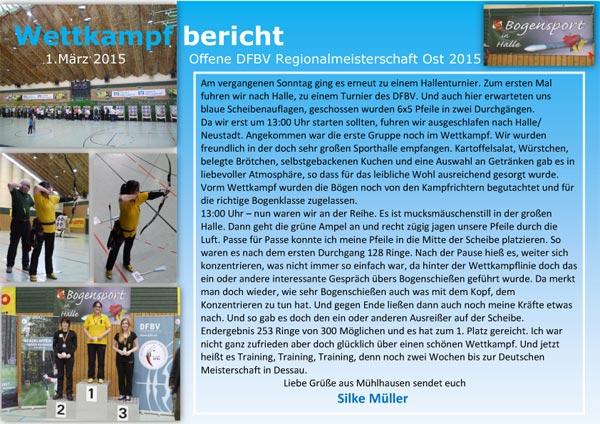 Offene DFBV Regionalmeisterschaft Ost 2015 - Silke Müller