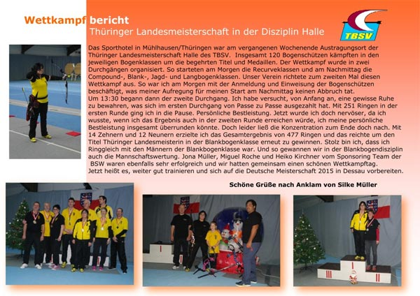 Thüringer Landesmeisterschaft Mühlhausen