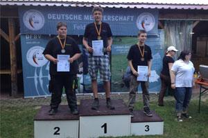 Recurveschütze Daniel Eisele wird Erster bei der Deutschen Meisterschaft DFBV Feld und Jagd 2015 in St. Leon-Rot
