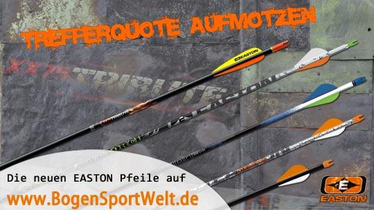 Trefferquote aufmotzen mit neuen Easton Pfeilen - erhältlich bei der BogenSportWelt.de