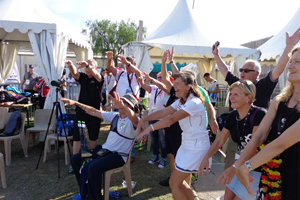 Laola mit Annedore Röbisch bei den European Masters Games 2015 in Nizza