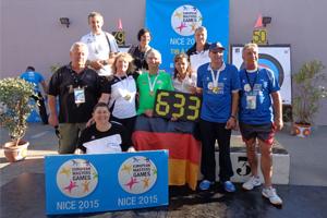 Neuer Weltrekord für Annedore Röbisch bei den European Masters Games 2015 in Nizza