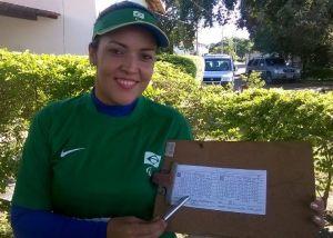 Compoundschützin Jane Karla Rodrigues Gögel beim Nationalen Qualifikationsturnier für die Parapan Games und die Behinderten-Weltmeisterschaften