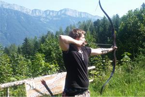 BSW-Sponsoring-Schütze Lukas Stüfer beim Outdoor-Training