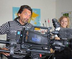 Der NDR mit Kamera zu Besuch bei der BogenSportWelt.de für die Sendung Hanseblick: Von wegen Provinz - entlang der Peene.