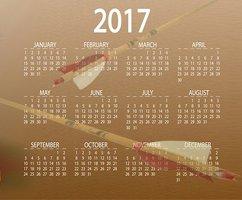 Kalender 2017, Bogentermine, Messetermine