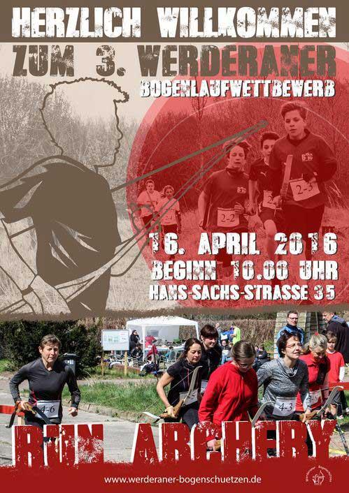 Plakat Werderander Bogenlauf