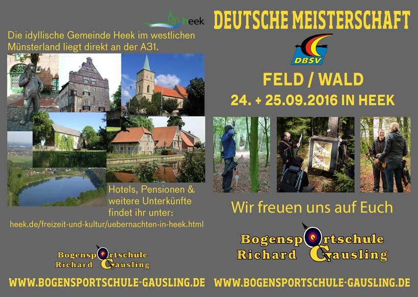 Flyer zur DM Feld und Wald 2016