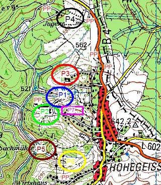 Die 7 Parcours der EFAC in Hohegeiß beinhalten einige Höhenmeter