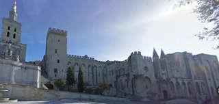 Der Palast der Päpste in Avignon, Frankreich