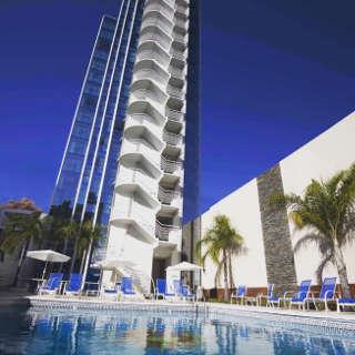 Das Holiday Inn Rosario, eins der offiziellen Wettkampfhotels der WM der Jugend