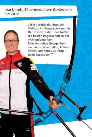 Lisa Unruh freu sich auf zahlreiche Zuschauer beim Archery World Cup in Berlin