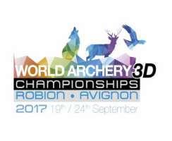 Logo World Archery 3D Championships 2017 Robion, Frankreich
