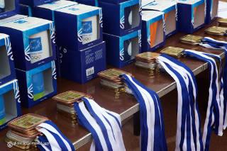 Es gab schicke Medaillen beim European Youth Cup in Marathon
