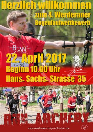 Flyer 4. Werderaner Bogenlauf