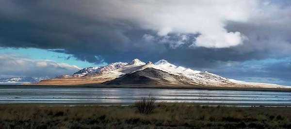 Der große Salzsee von Salt Lake City