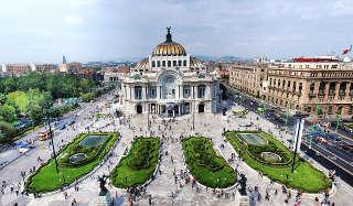 Der Palast der schönen Künste im historischen Zentrums Mexico Citys