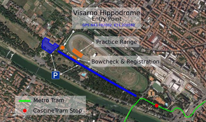 Anmeldung und Bogencheck der IFAA World Bowhunter Championship 2017 in Florenz