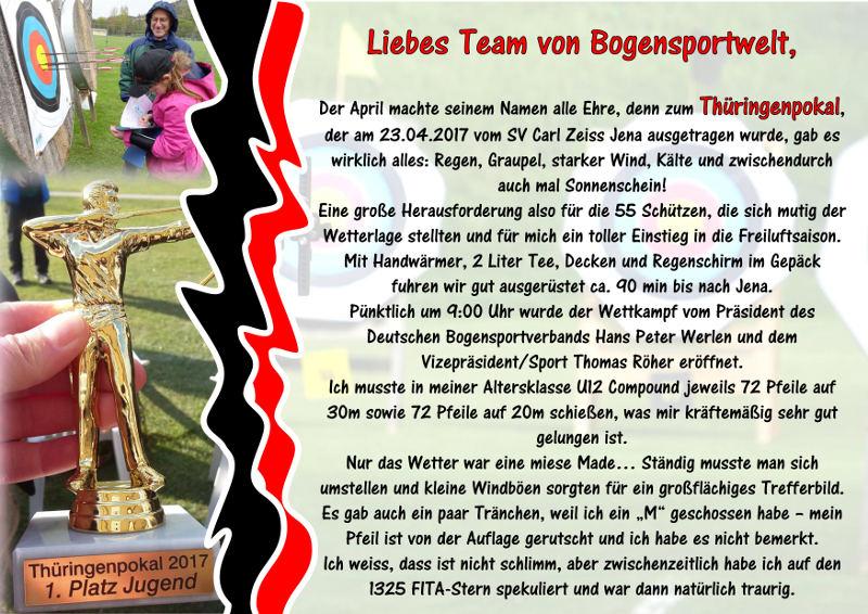Jona Sophie Müller trotzt dem Sauwetter beim Thüringenpokal
