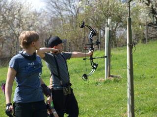 Marten Hecht in Aktion auf der Landesmeisterschaft Feld/Wald