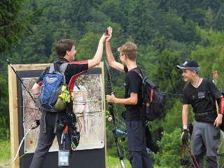 High Five mit der Konkurrenz an der Scheibe - gelebter Sportsgeist auf der EFAC!