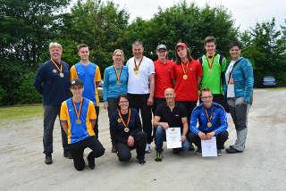 Die Medaillenträger der DM Feldbogen 2017 in Hohegeiß