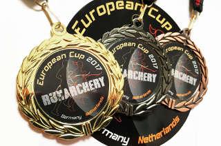 Marco Kreische sicherte sich Gold, Silber und Bronze beim Europacup Bogenlaufen in Berlin