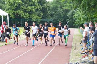 Start zum Europacup Bogenlaufen in Berlin