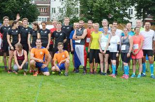 Die Teilnehmer der 1. Etappe des Europacup Bogenlaufen in Berlin