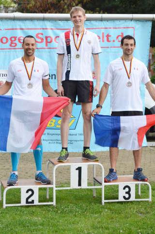 Glücklicher Sieger: Marco Kreische holt Gold im Sprint beim Europacup Bogenlaufen