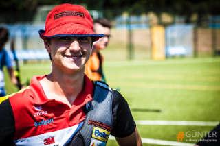 Moritz Wieser bleibt guter Laune beim European Youth Cup