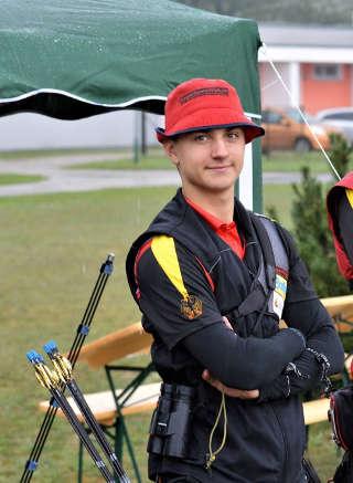 Recurveschütze Moritz Wieser auf der 2. Rangliste in Kienbaum