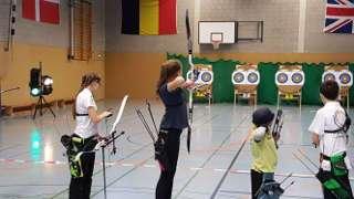Annika Rennett in Aktion auf der Bezirksmeisterschaft in Bedburg-Hau