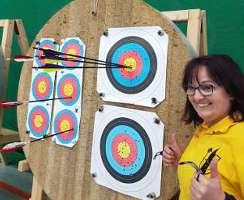 Silke Müller freut sich bei der Kreismeisterschaft über glatte 30 Punkte