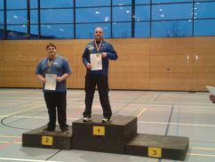 Ronny Schmidt auf dem Siegertreppchen bei der Regionalmeisterschaft Halle Ost des DFBV