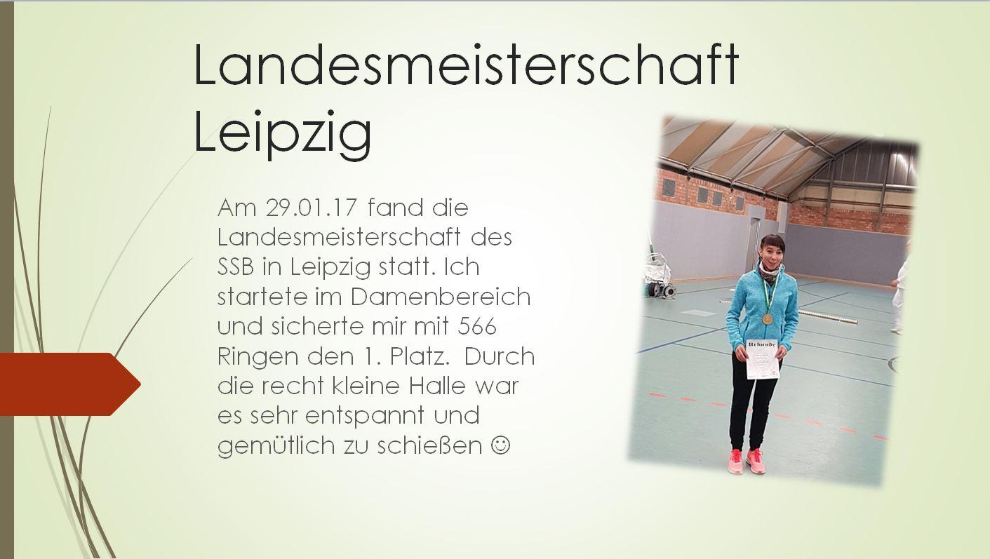 Cindy Geppert bei der Landesmeisterschaft Leipzig