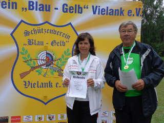Annedore Röbisch konnte sich bei der LM LSV in Vielank über eine Medaille freuen