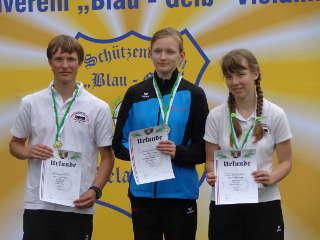 Elsa Neumann wurde Landesmeisterin u17 w Recurve