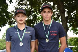 Noah Pop und Annika Rennett konnten sich in Düren beide über eine Medaille freuen