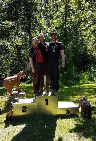 David Ris auf dem Siegertreppchen der Thüringer Landesmeisterschaft 3D