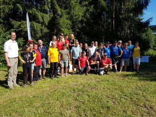 Gruppenbild der Medaillenträger der Österreichischen Meisterschaft 2017