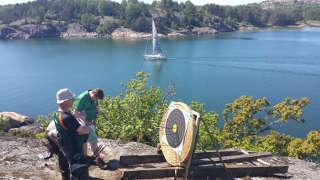 Boot meets Bogenschießen bei den Swedish Open in Lilla Brattön