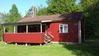 Typisch Schweden: Hütte auf der Wettkampfinsel Lilla Brattön