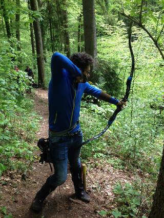 Gelenkiger Bergabschuss für Daniel Eisele bei der Bowhunterliga in Donzdorf